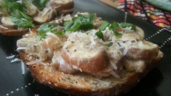 mushroom on toast recipe