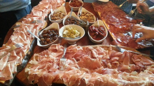Cured meats at Gusto Italiano, Lazy Lounge