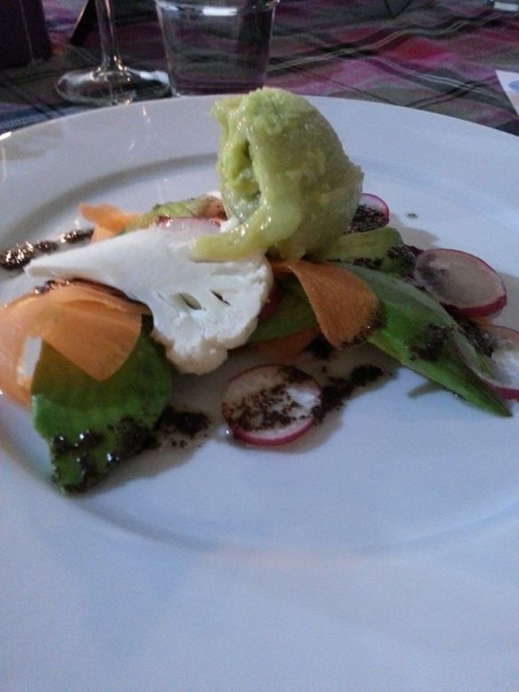 Carpaccio of Vegetables, The Greedy Pig Pop Up Vegetarian Evening