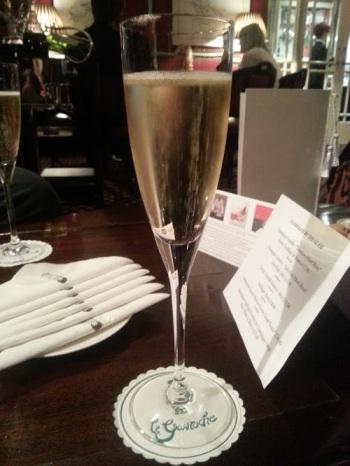 Champagne at Le Gavroche