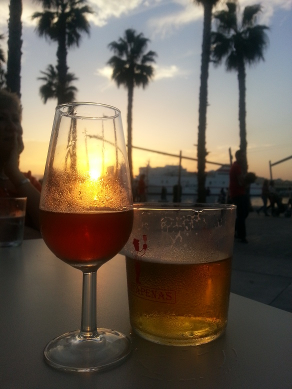 Sunset Sherry at the Puerto de Málaga