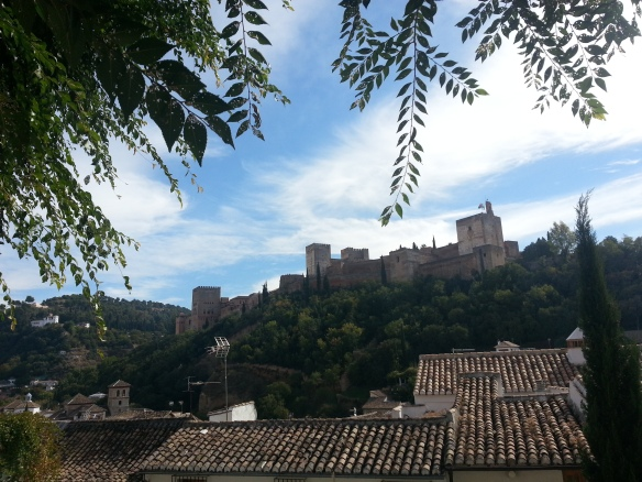 The first glimpse of the Alhambra from the Albaicín , Granada