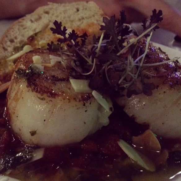 Seared scallops from Donostia Social Club at Trinity Kitchen