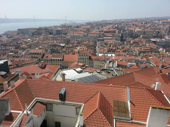 The view from Zambeze Restaurante, Lisbon