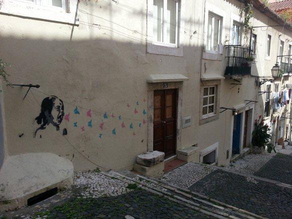 Street art near Castelo de São Jorge, Lisbon