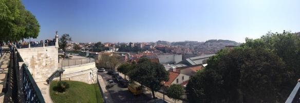 The view from Miradouro de São Pedro de Alcantara , Lisbon