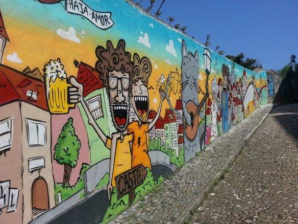 Street art near Castelo de São Jorge