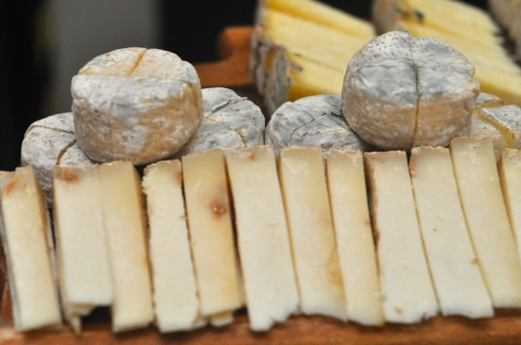 Goats' cheese heaven: Crottin de Chavignol and Ribblesdale Mature Goat Cheese Photo credit: Jo Murricane, Co-Founder of Leeds Food and Drink Association