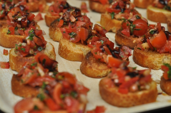 Tomato and balsamic bruschetta made by Gusto Italiano's Mario Olianas. Photo credit: Jo Murricane, Co-Founder of Leeds Food and Drink Association