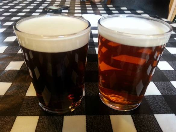 The perfect Yorkshire pint? Riggwelter and Black Sheep Ale.