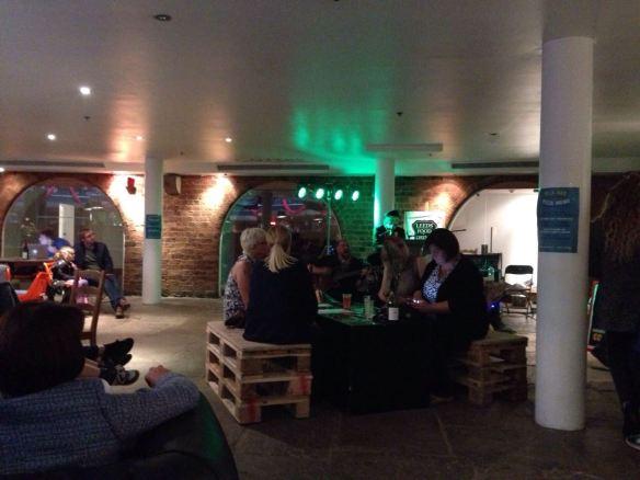 The prosecco lounge at Cornucopia Underground
