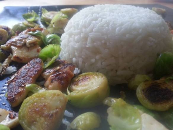 sprout and halloumi salad recipe
