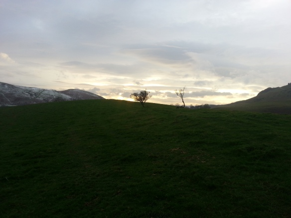 Sunset on New Year's Eve, Shropshire